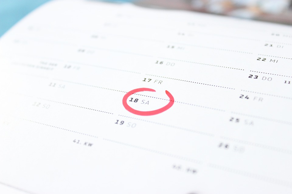 seznamka - kalendář